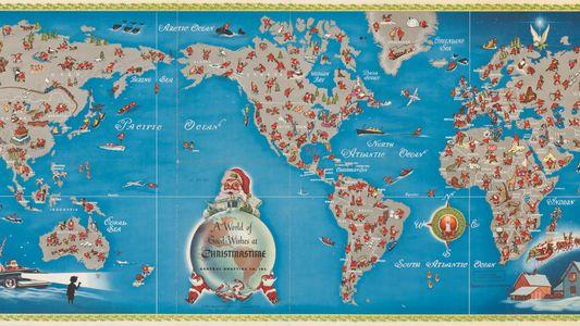 Vintage Map Shows Santa's Journey Around the World