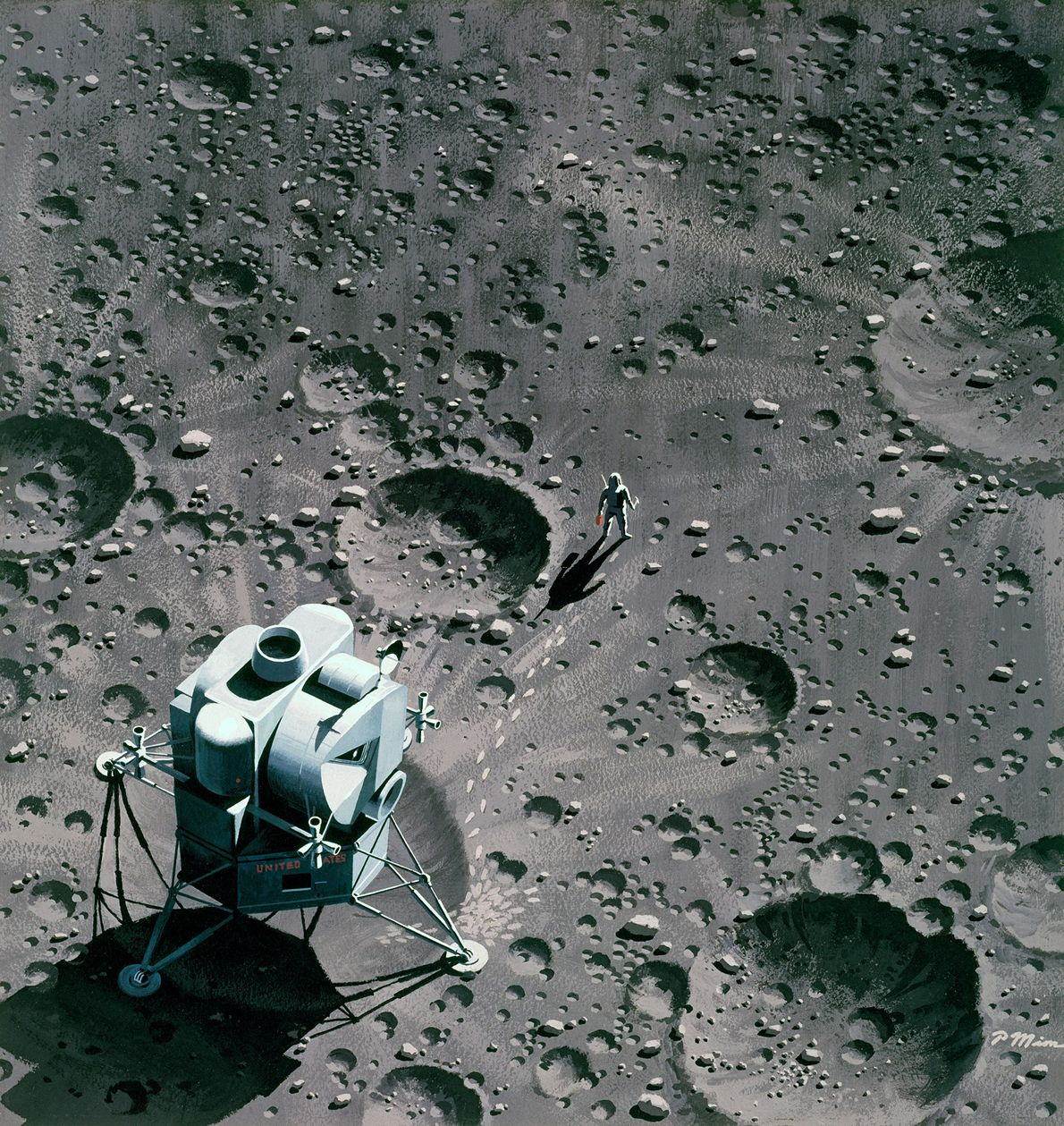 Footprints On The Moon, March 1964