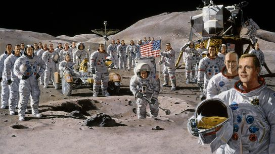 A shared dream of reaching the moon united the Apollo astronauts in a massive team effort. ...