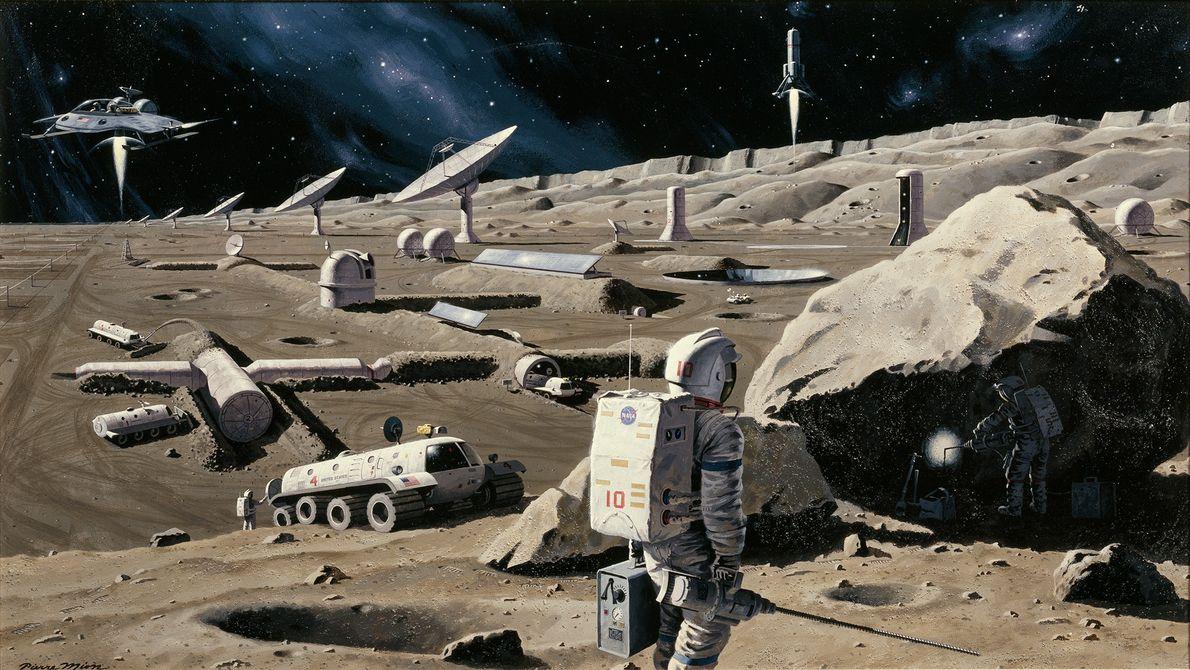 Moon Colony, January 1975
