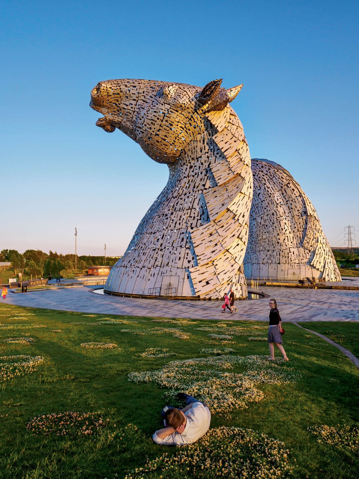Sculptor, Andy Scott, laboured eight years on 'The Kelpies', 30-metre (98-foot) tall, stainless-steel horse heads that ...