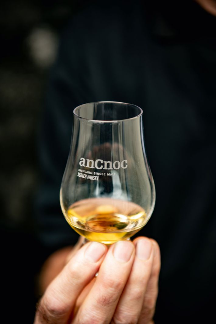 The barrels used to store Knockdu's whisky are former bourbon and sherry oak casks, shipped in ...
