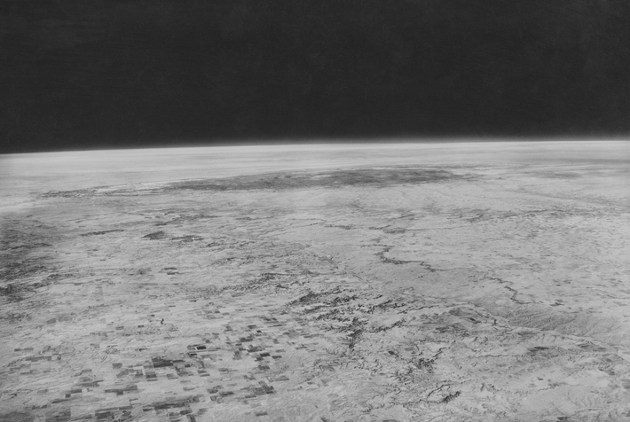 This image, taken by Albert W. Stevens at 72,395 feet was the first image to show the ...