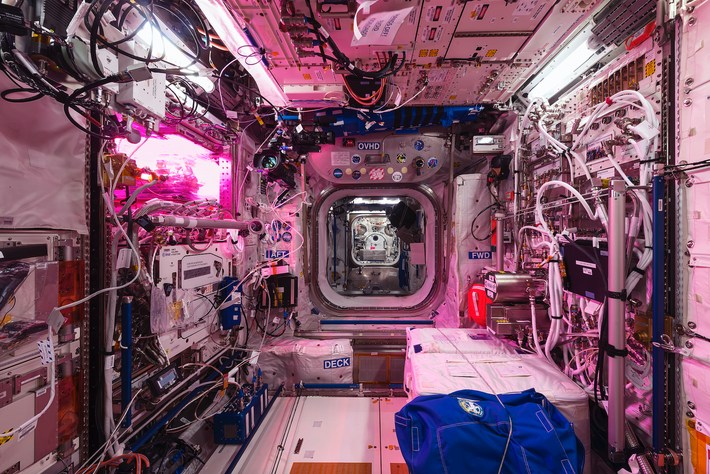 A night view of the European Space Agency (ESA) Columbus laboratory. The lab is the ESA's ...