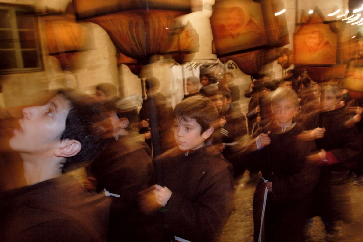 More than 400 children carry lanterns through the streets of Mendrisio, Switzerland, to commemorate Good Friday. ...