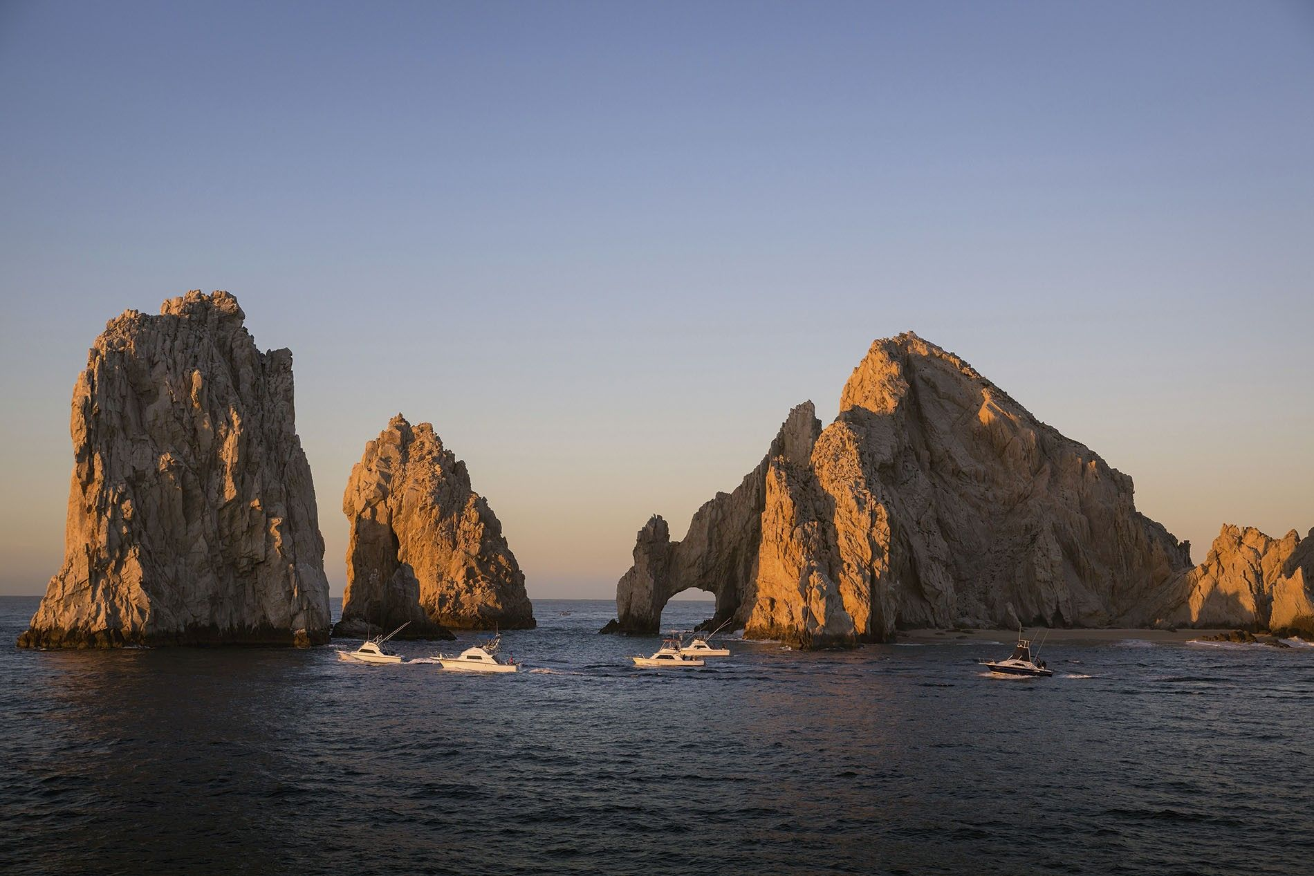 The Friars are stunning geological features in the Sea of Cortez.