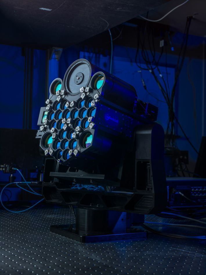 A laser transmitter, like this one developed by II-VI, Inc. and the University of Dayton, presages ...