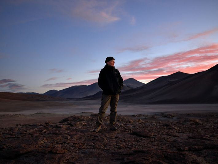 While the landscape appears lifeless, microbes thrive in pockets in the gypsum where water is trapped. ...