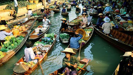 Damnern Saduak Floating market, Bangkok
