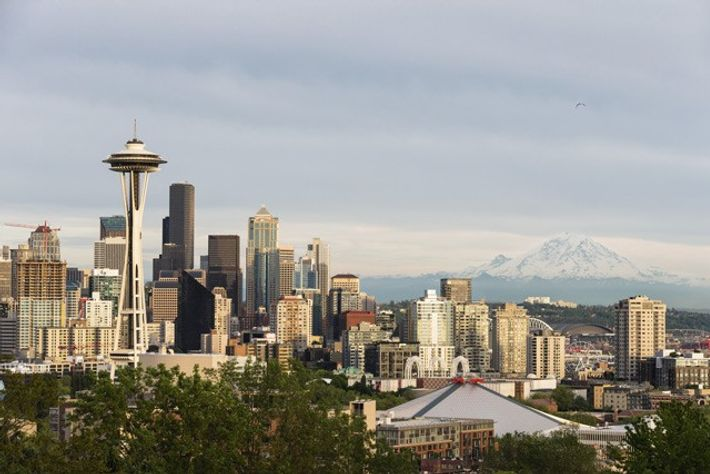 Skyline of Seattle.