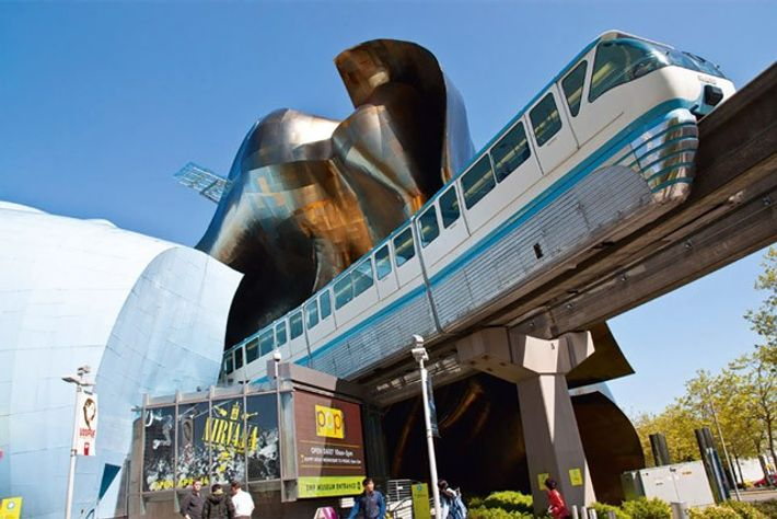 The south entrance of the EMP Museum.