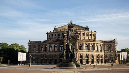 The Semperoper is the opera house of the Sächsische Staatsoper Dresden and the concert hall of the ...