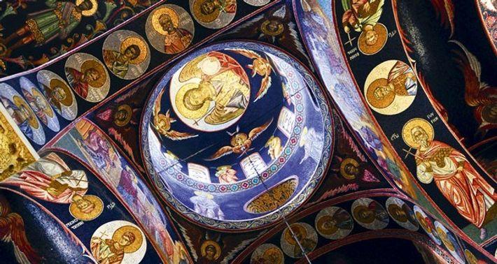 Interior of St George church in Topola.