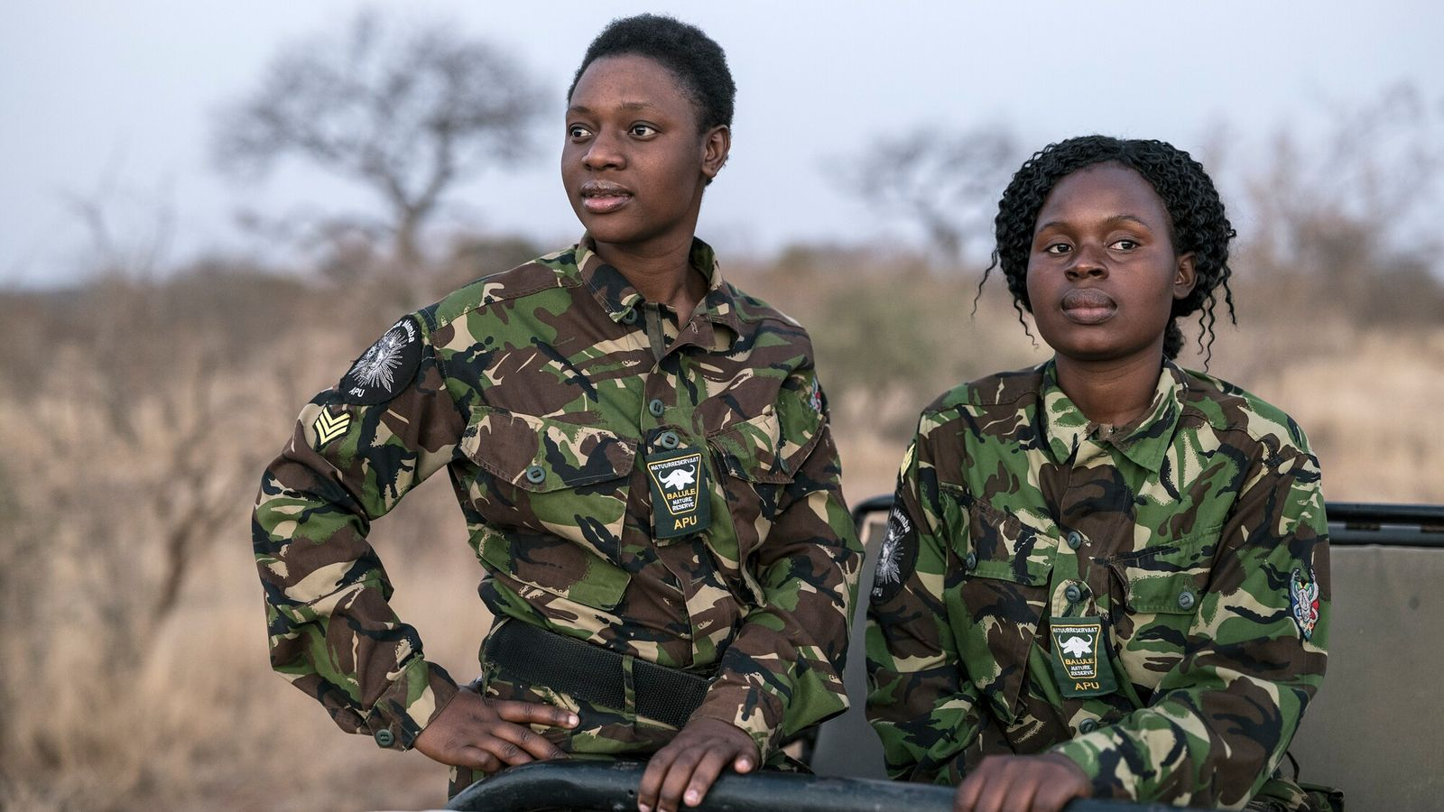 Sergeant Cute Mhlongo and Sergeant Nkateko Mzimba are two of the23 young, female rangers protecting the ...