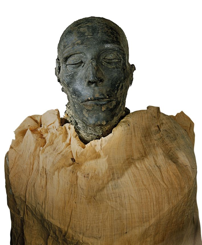 The mummy of Seti I was removed from the tomb in antiquity and hidden nearby for ...