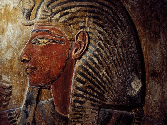 This pharaoh's painted tomb was missing its mummy