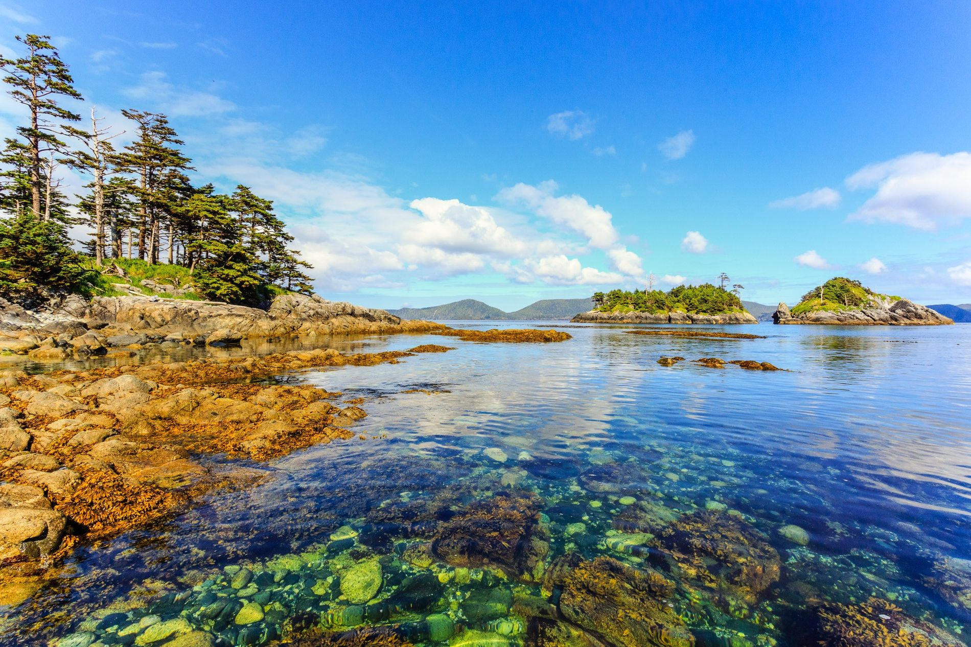 SG_ang Gwaay (Anthony Island) is located in the southwest corner of Gwaii Haanas National Park Reserve ...