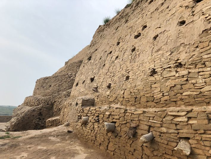 Fortified walls eight feet thick and six miles long ringed the city. The ruins were first ...