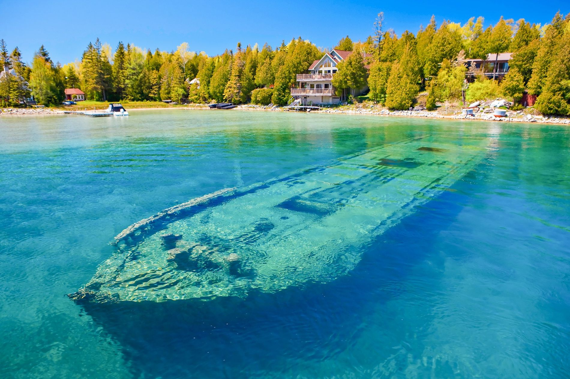 Scuba-lovers will enjoy the park's submerged geological formations and 22 dive-able historic shipwrecks. Non-divers can see ...