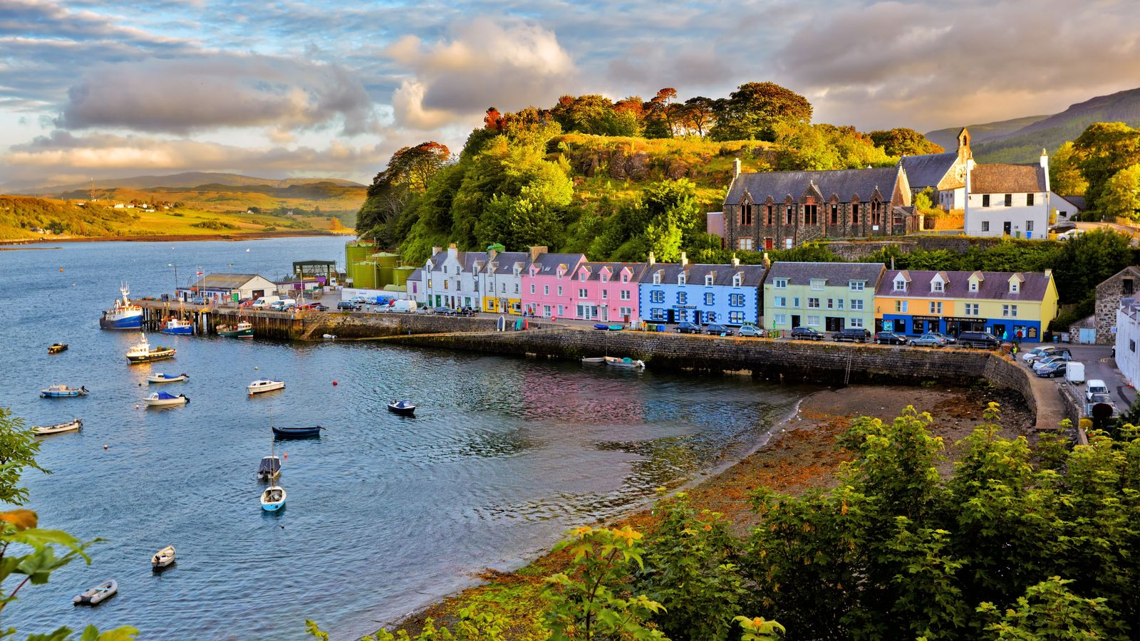 Portree is the largest town on the Isle of Skye.