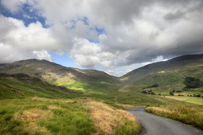 Hardknott Pass in Cumbria is the second part of a climb out of Ambleside. The first ...