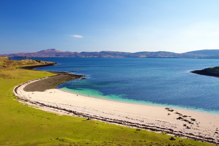 Claigan Coral Beach on the Isle of Skye almost seems tropical thanks to its white sand.