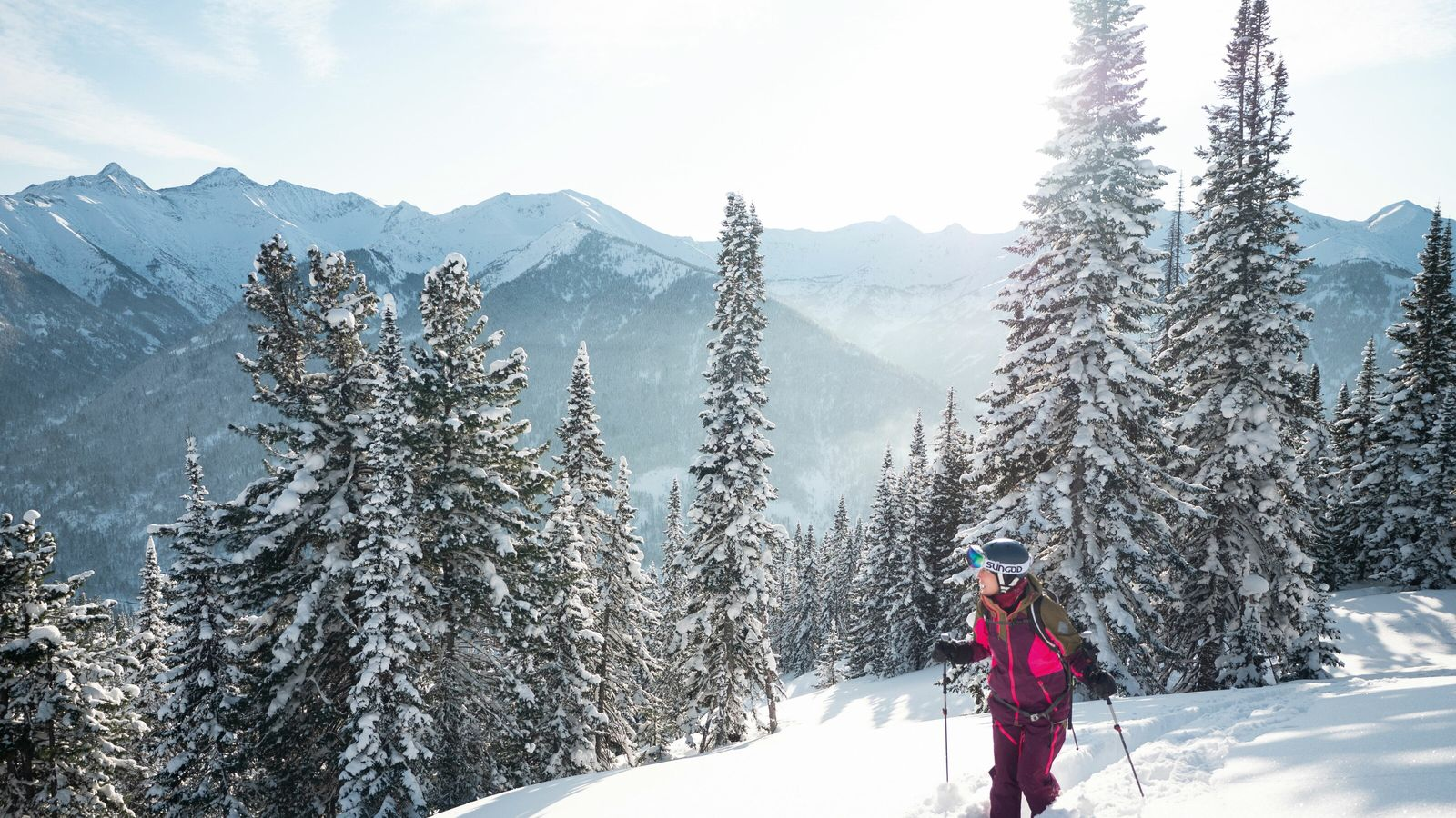 Fresh, deep Siberian powder snow overs the slopes at Khamar-Daban.