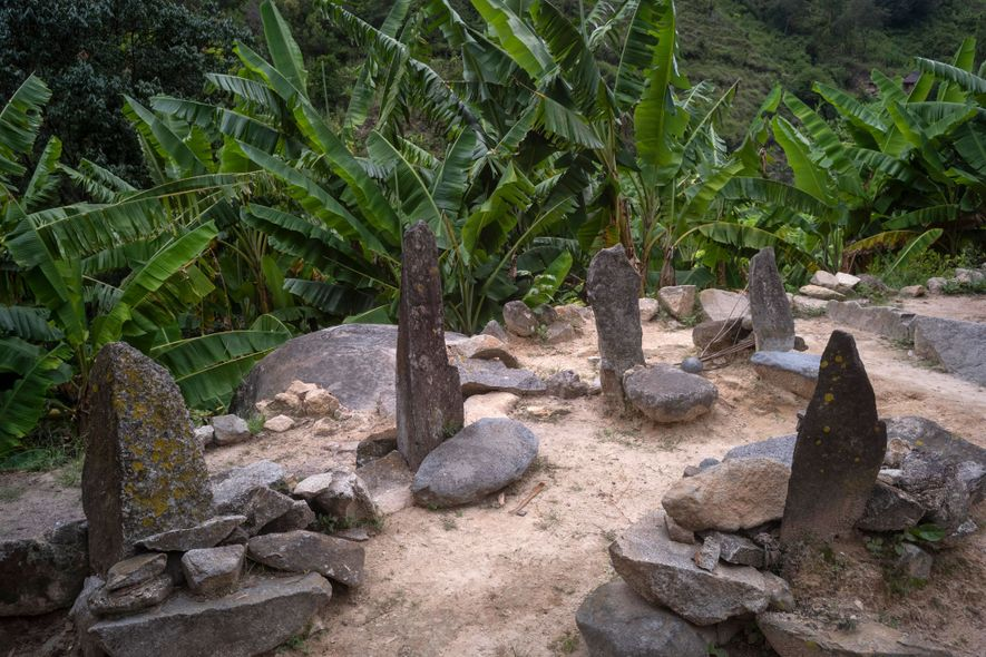In Sogrome, mamos sit in these stone seats—said to be antennas to communicate with the sky—to ...