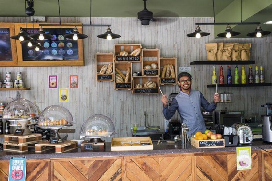 Coffee shop on Haji Lane. Image: Duncan Longden