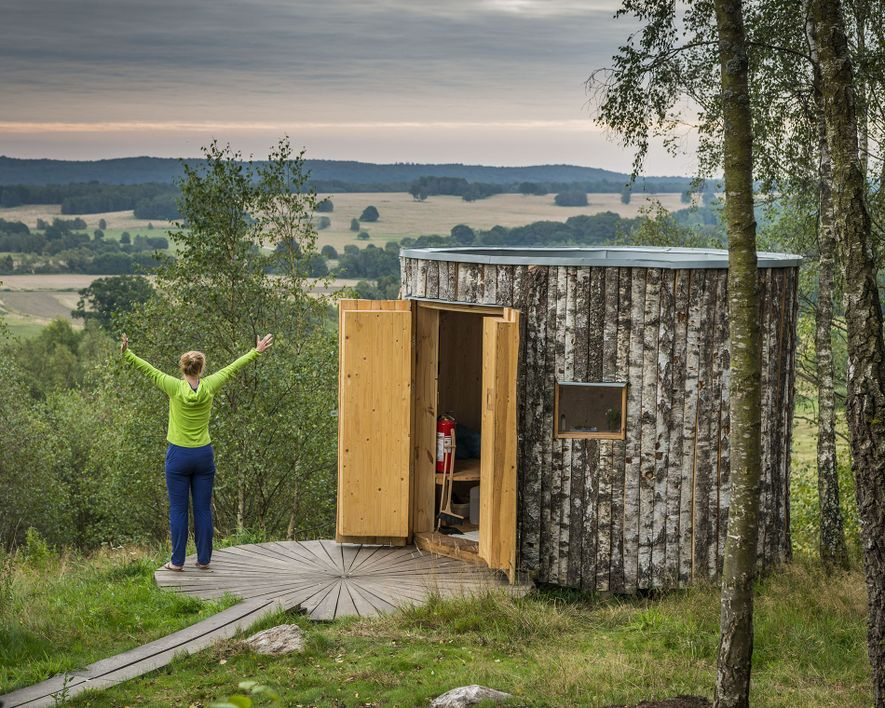 The new campsite at Hovdala Hiking Centre