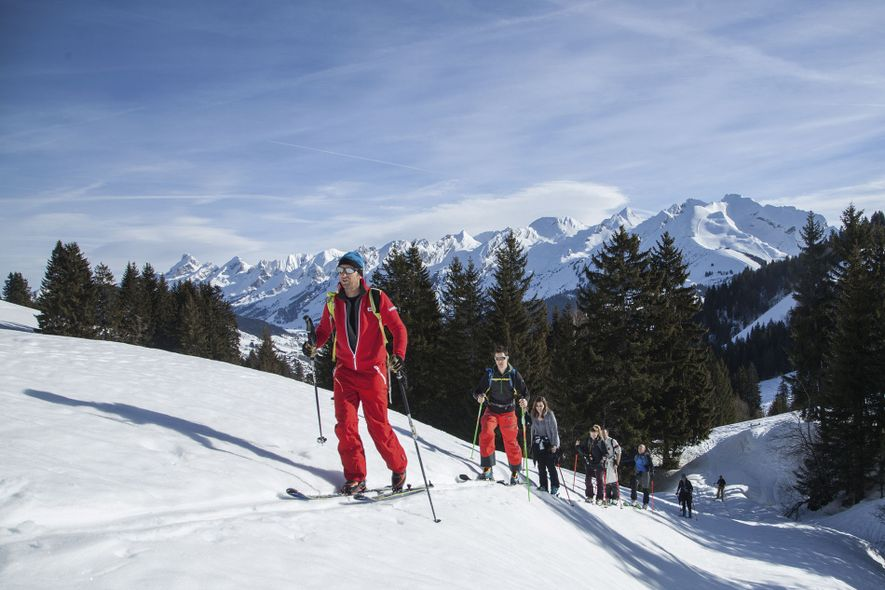 The resort of La Clusaz, in France, has new ski touring routes for beginners and advanced skiers.