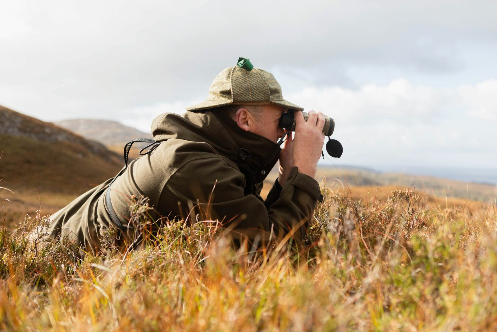 Scott Mackenzie, Eilean Iarmain estate's gamekeeper, keeps watch for rutting stags.