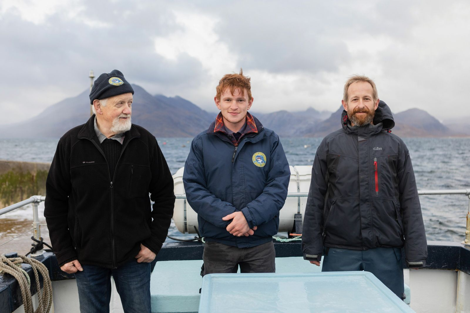 Seumas, Seumas and Sandy — three generations of the Mackinnon family. Their company, Misty Isle Boat Trips, ...