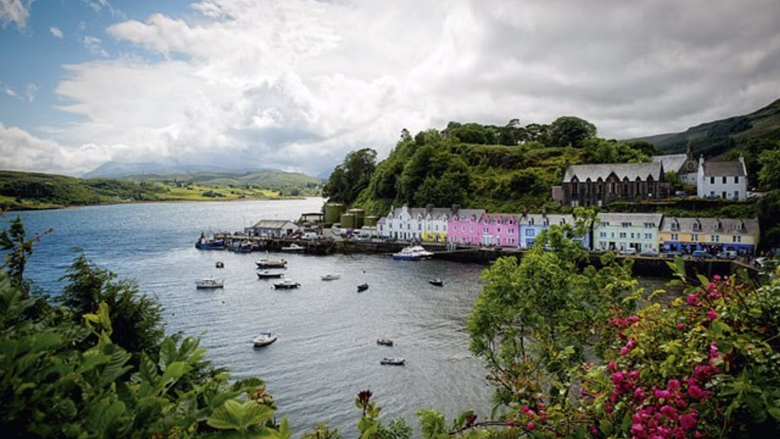 Portree and its harbour.