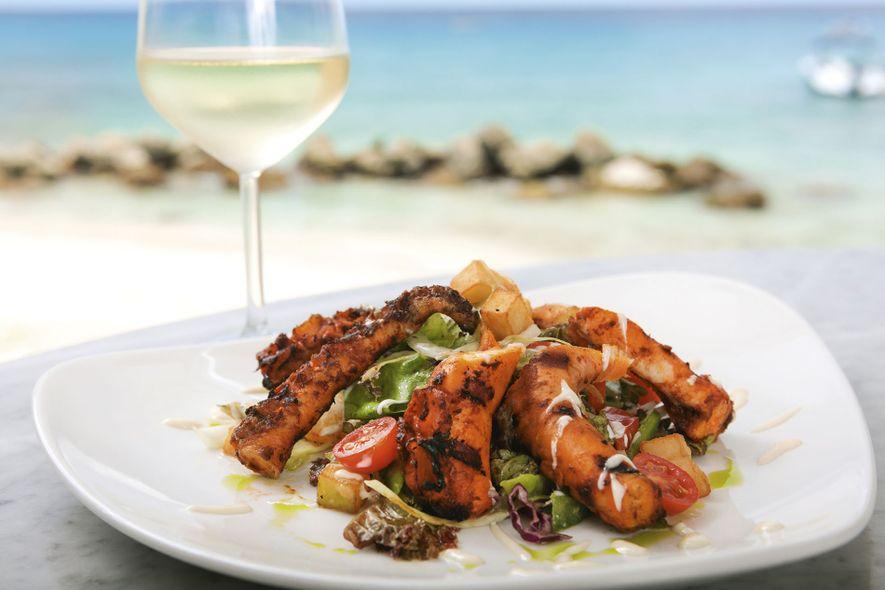 Delicious seafood in Barbados