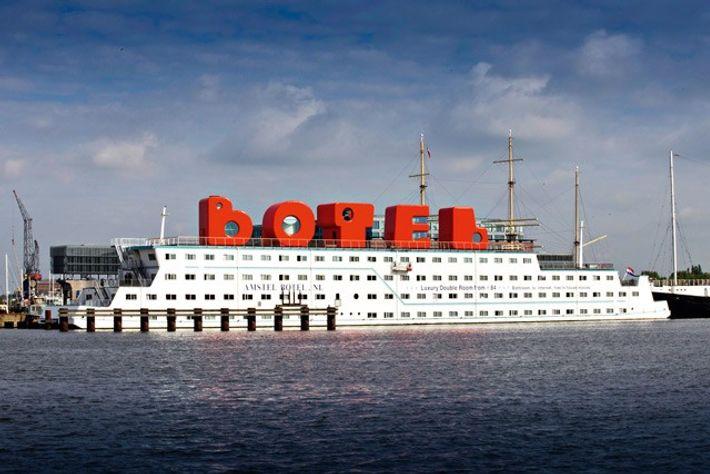 Amstel Botel, Amsterdam. Image: Botel