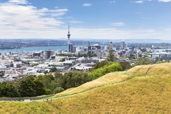 View from Mount Eden over Auckland