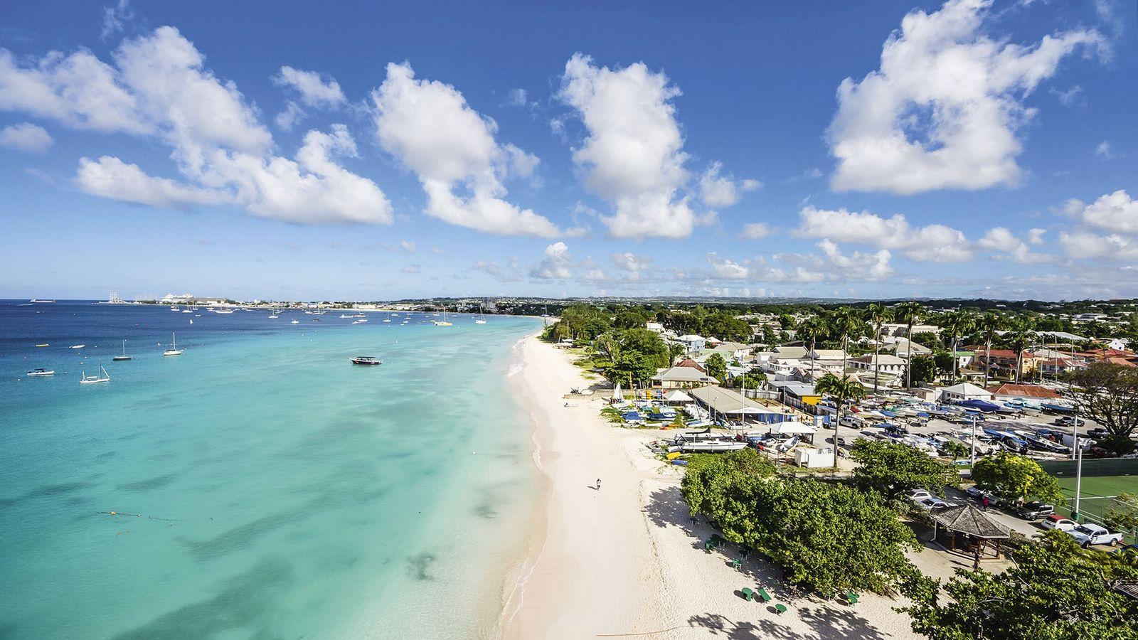 Pristine beach in Barbados