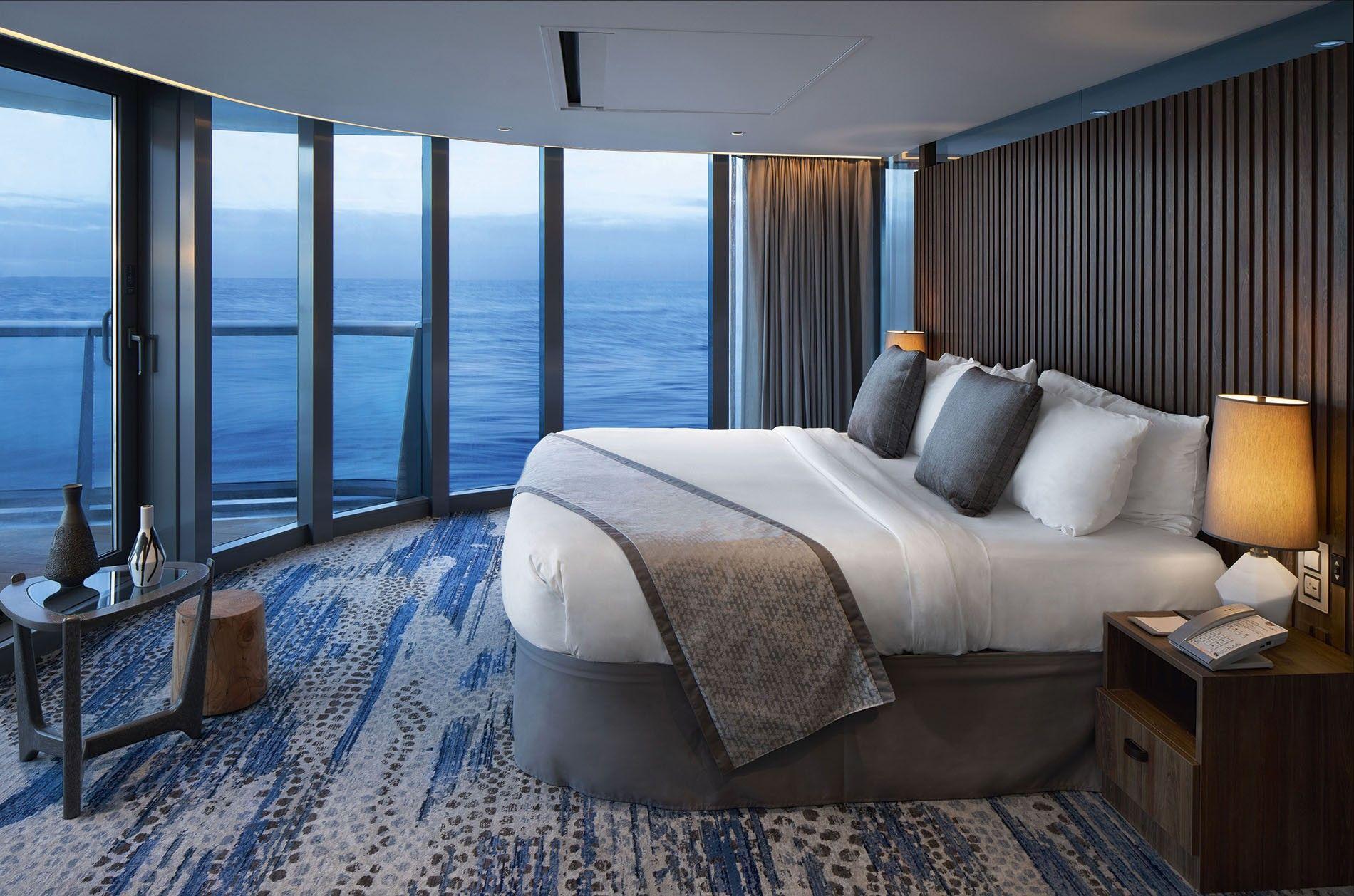 Penthouse suite aboard the Celebrity Flora.