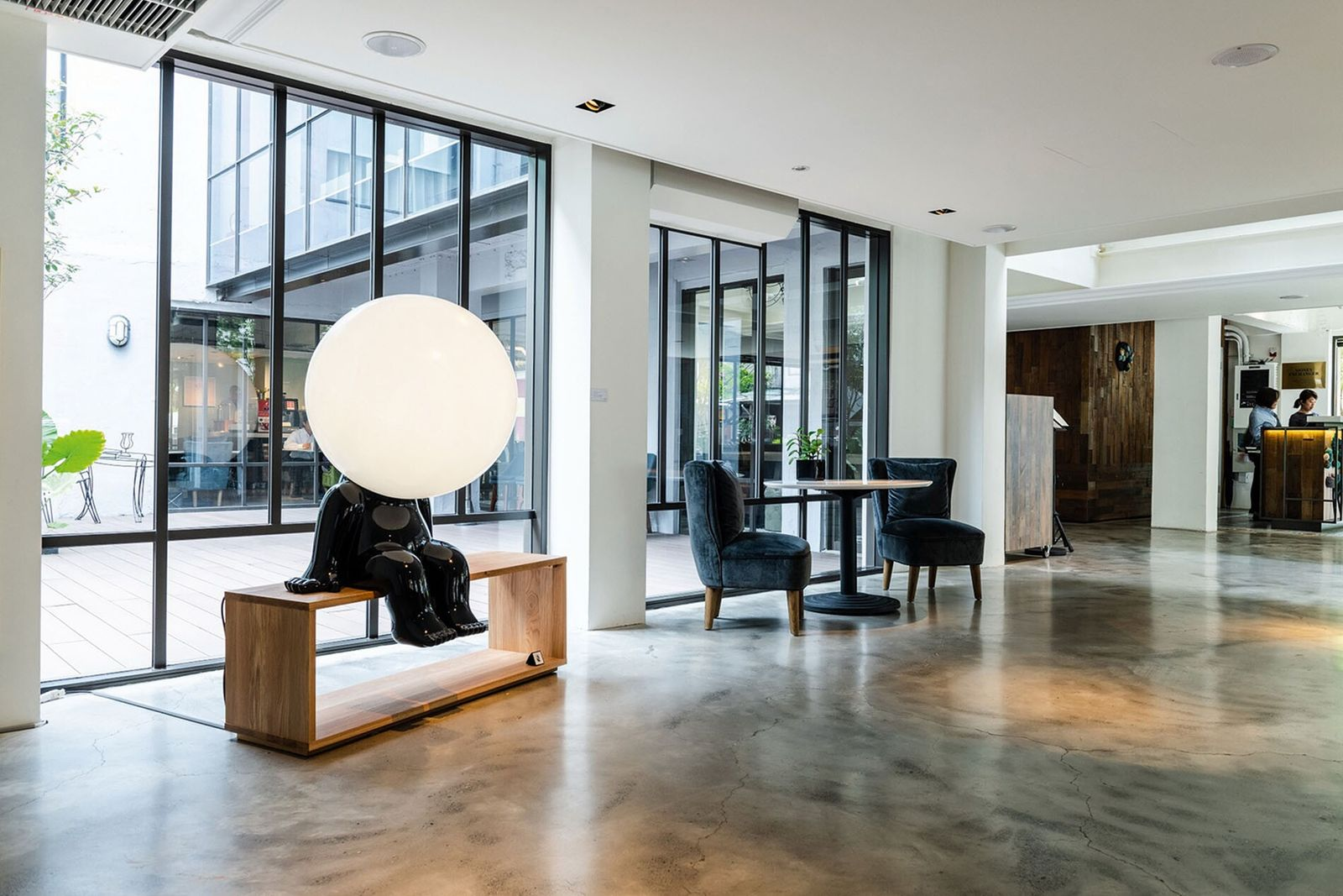 Folio Hotel Daan Taipe has a rotating exhibition programme featuring the work of local artists and ...