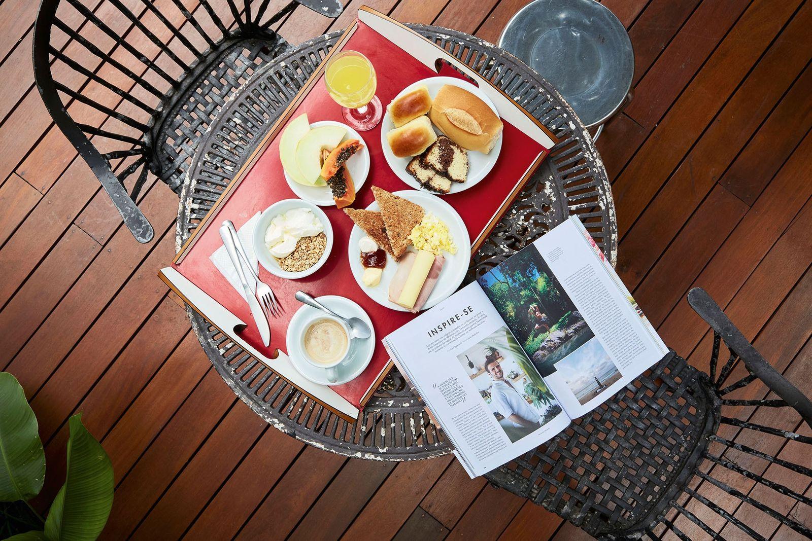 Breakfast is served at Guest Urban São Paulo.