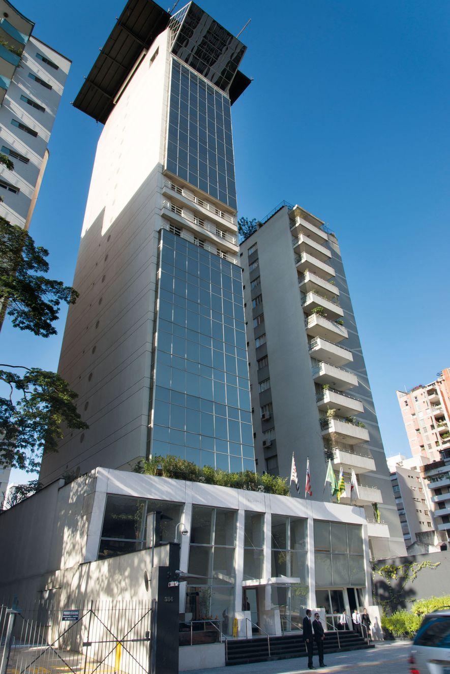 Exterior of Hotel Emiliano.