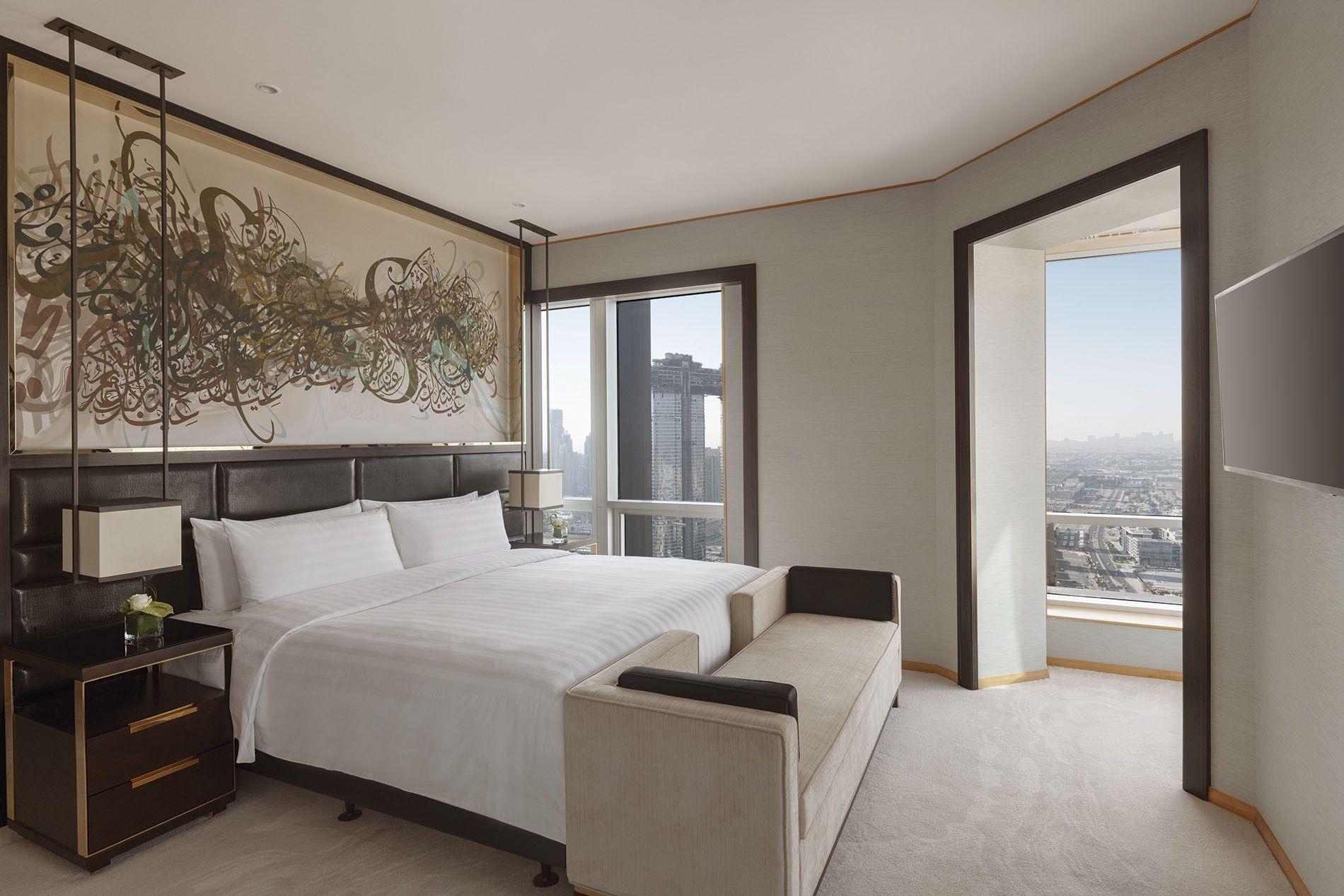 Shangri-La suite with a sea view.