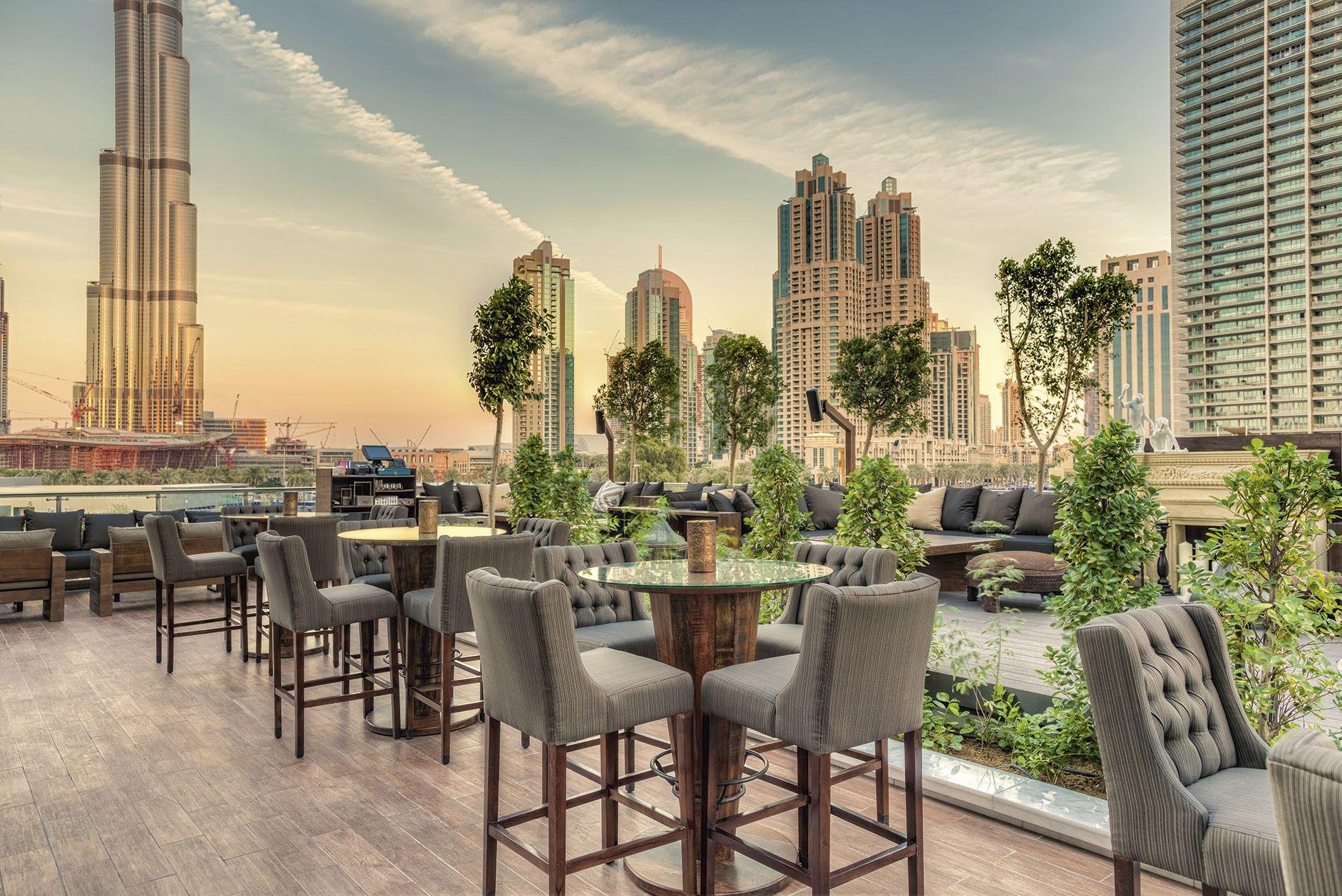 The spectacular view from Taj Dubai's Treetop bar.