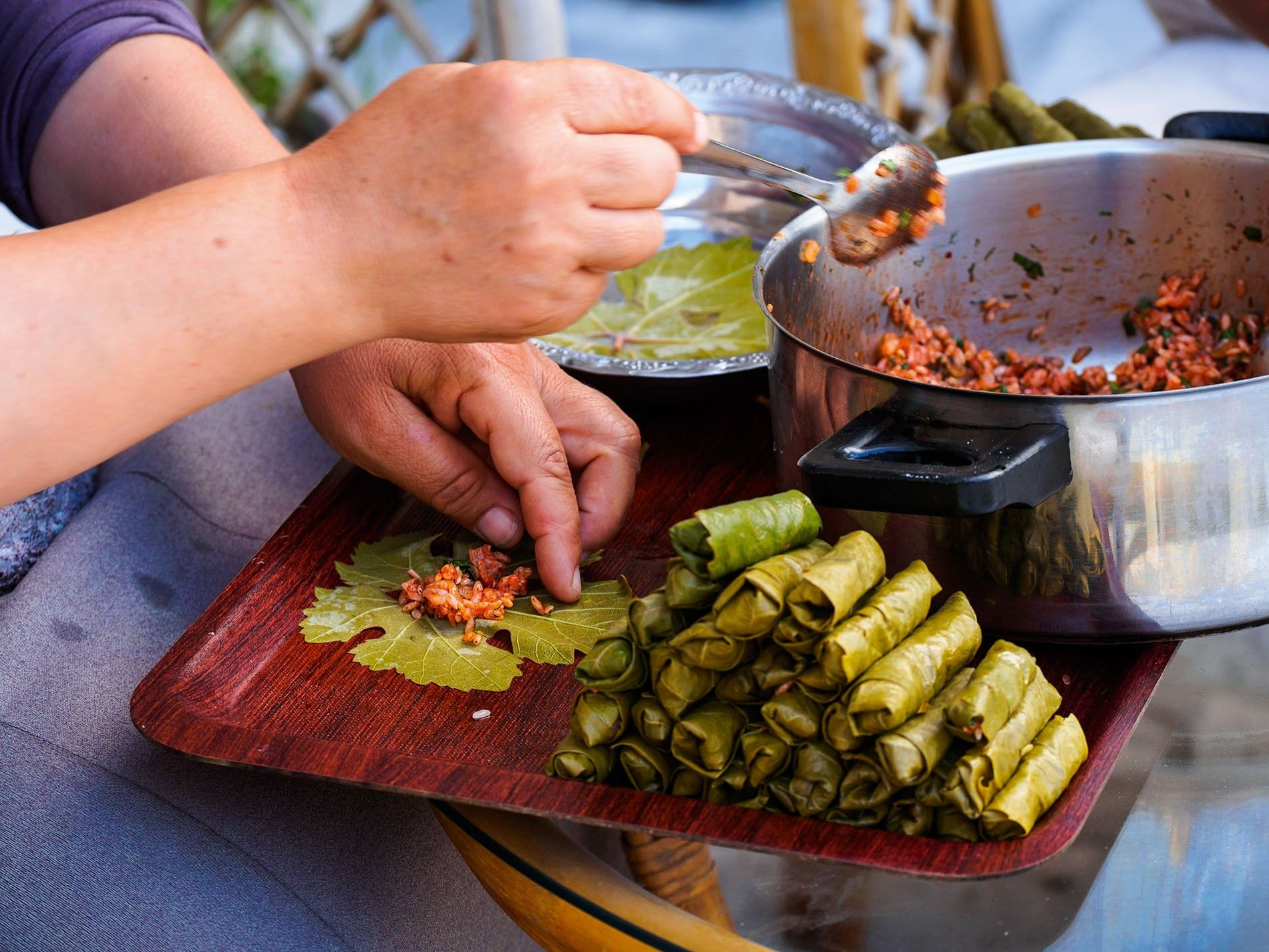 Dolma (stuffed vine leaves) is a staple dish across Turkey, Greece and the Middle East.