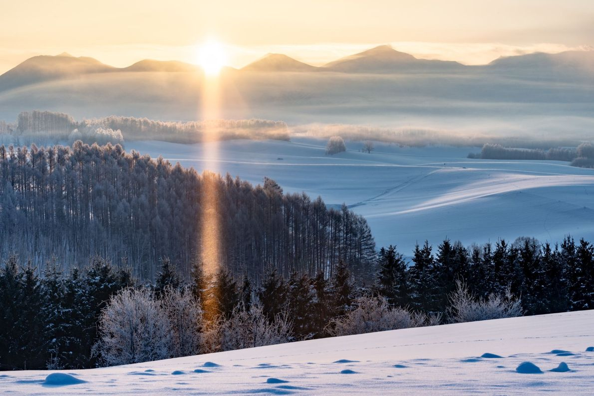 """""""The temperature in that morning was -25 degrees Fahrenheit. When the sun rose from the top ..."""
