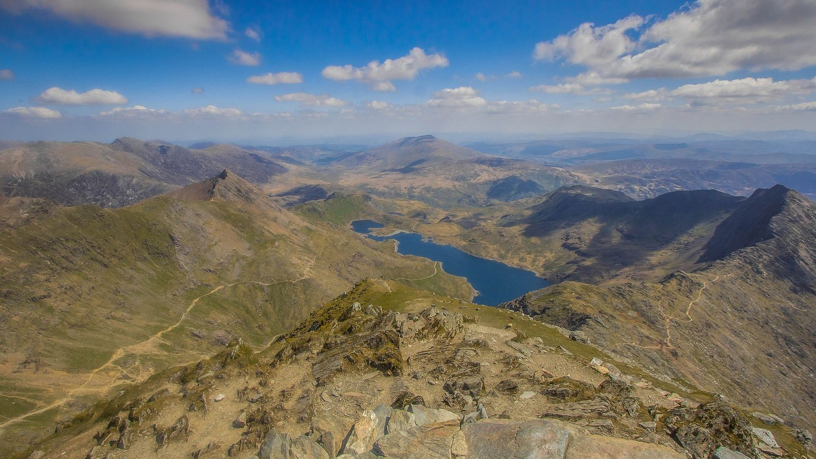 Snowdonia is the tallest mountain in Wales and affords remarkable views.