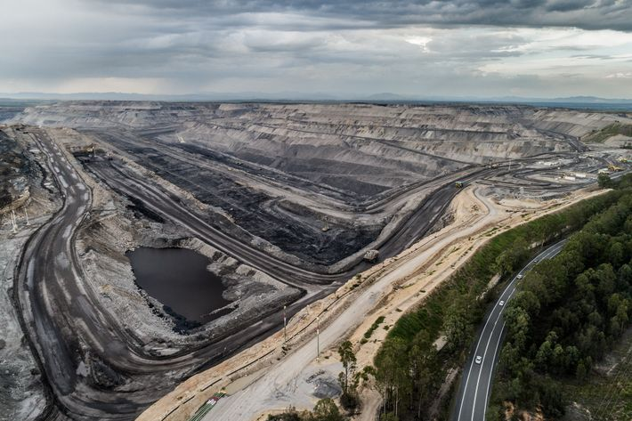 "The Mount Thorley Warkworth coal mine is one of several ""super pit clusters"" in Australia's Hunter ..."