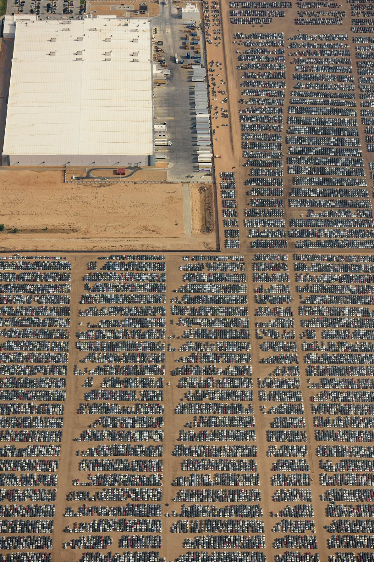 The Southern California Logistics Airport is one of 37 sites that stores Volkswagen cars turned in ...