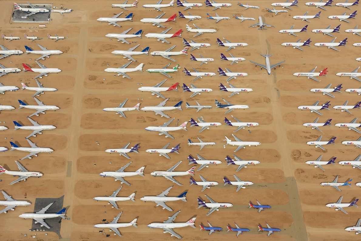The Southern California Logistics Airport is a well known boneyard for discarded planes.